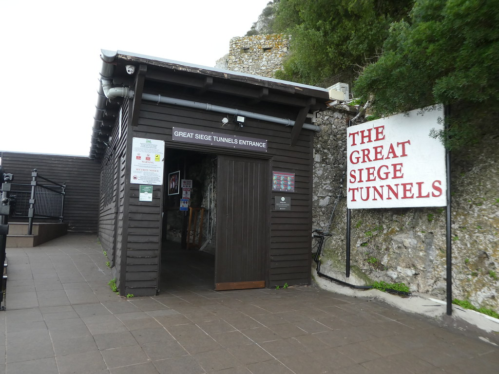 Entrance to the Great Siege Tunnels, Upper Rock, Gibraltar
