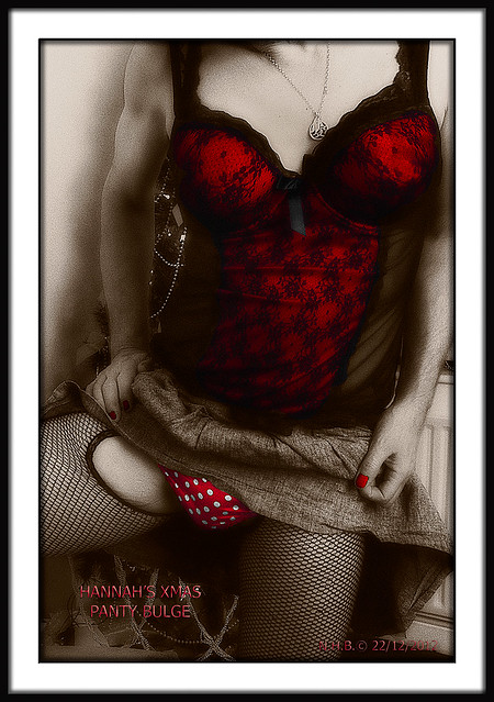 Red Polka Dot Panties and Red Basque