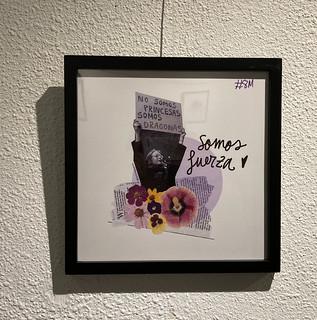 Lámina sobre el 8M en la exposición 'La otra poesía' de Marta Villela