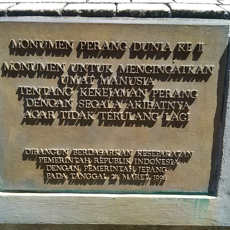 Tekst monument Tweede Wereldoorlog in Manokwari