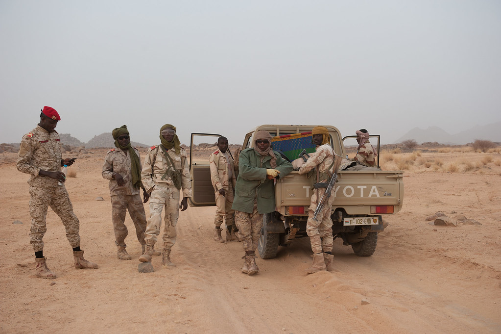 Nigerien security forces head to Iferouane, Agadez region, on 21 February 2019. CRISISGROUP/Julie David de Lossy