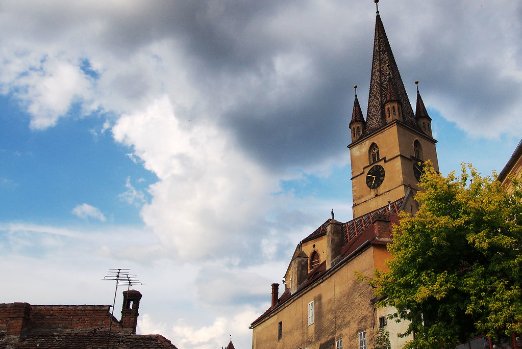 Sibiu Romania kellotorni