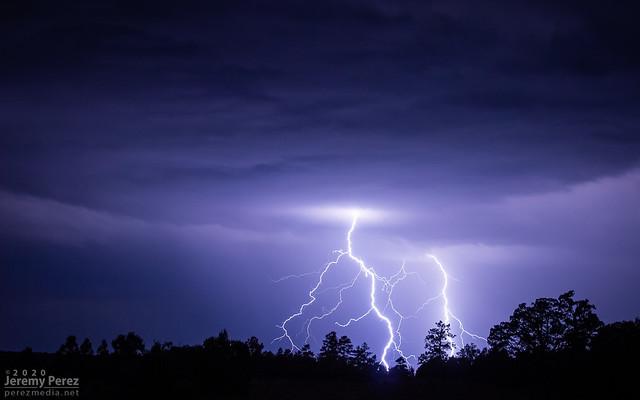 29 August 2020 — Stoneman Lake, Arizona — Monsoon Lightning