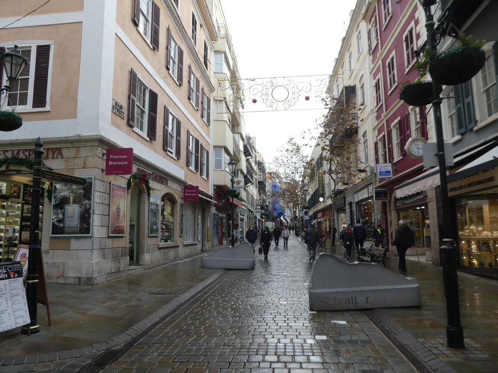 Shopping along Main Street, Gibraltar