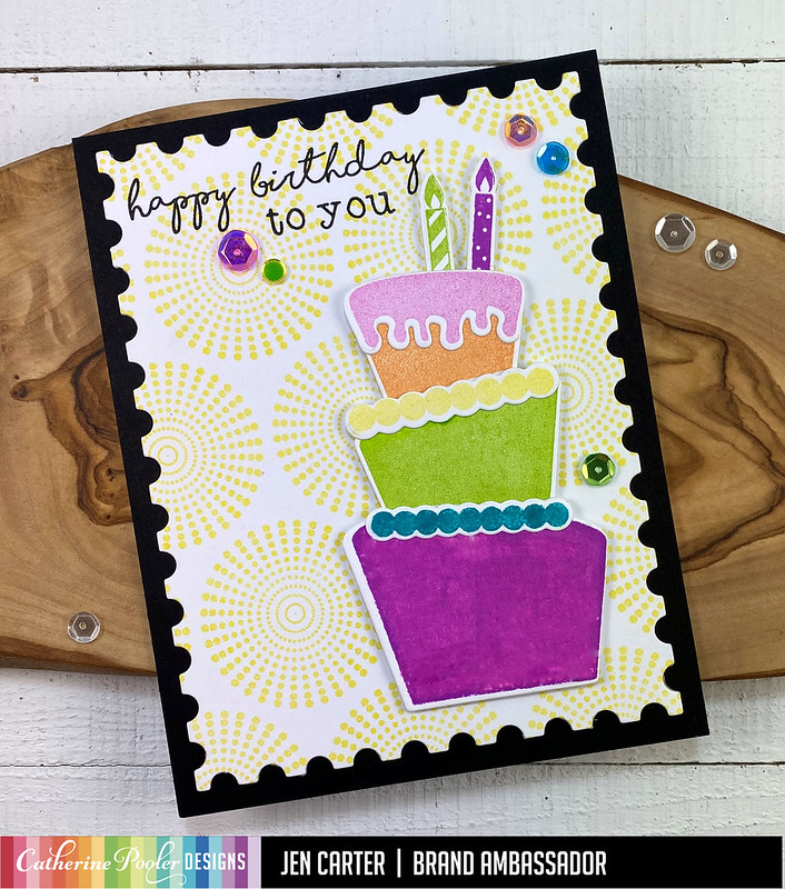 Jen Carter StampNation Birthday Cake Remix