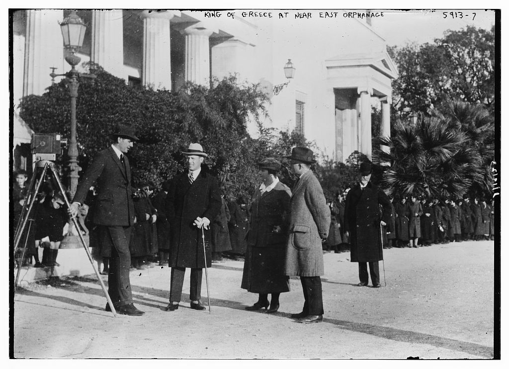 King of Greece at Near East Orphanage (LOC)