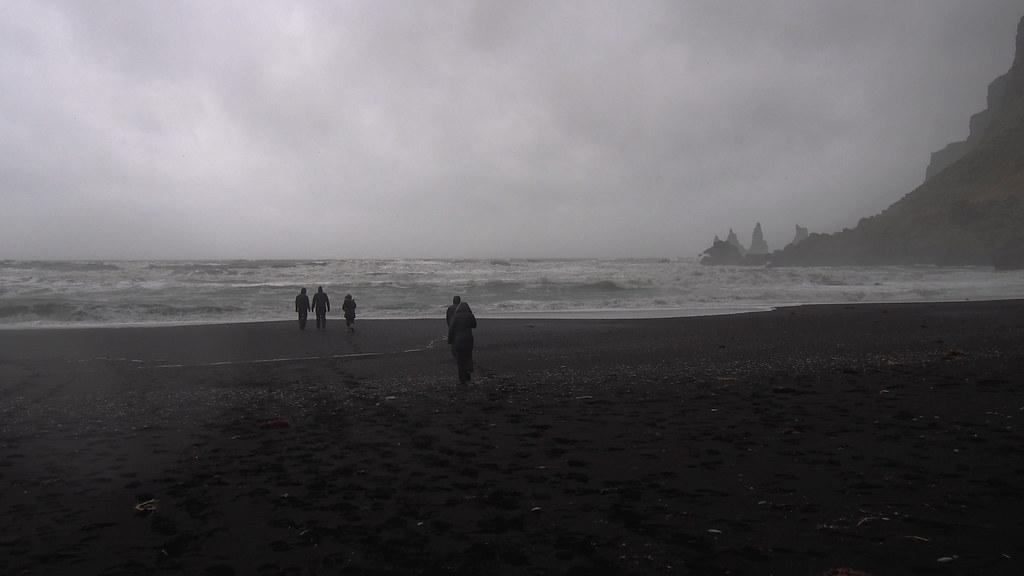 Islanti black sand beach