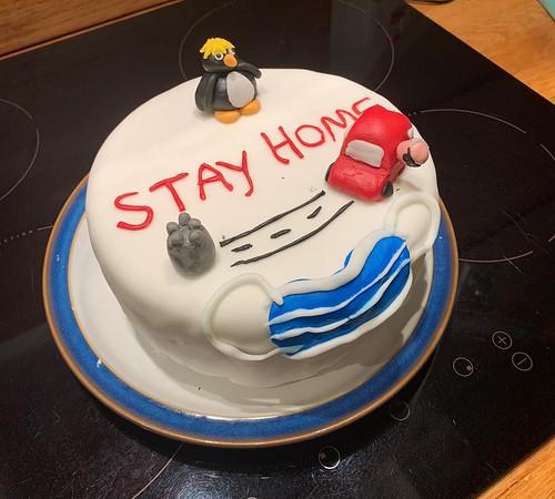 Stay Home Covid-19 Christmas cake