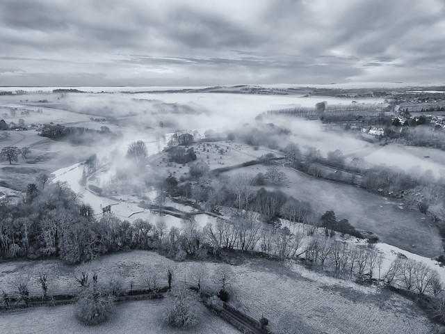 Medway Mist Rising Over Teston Lock