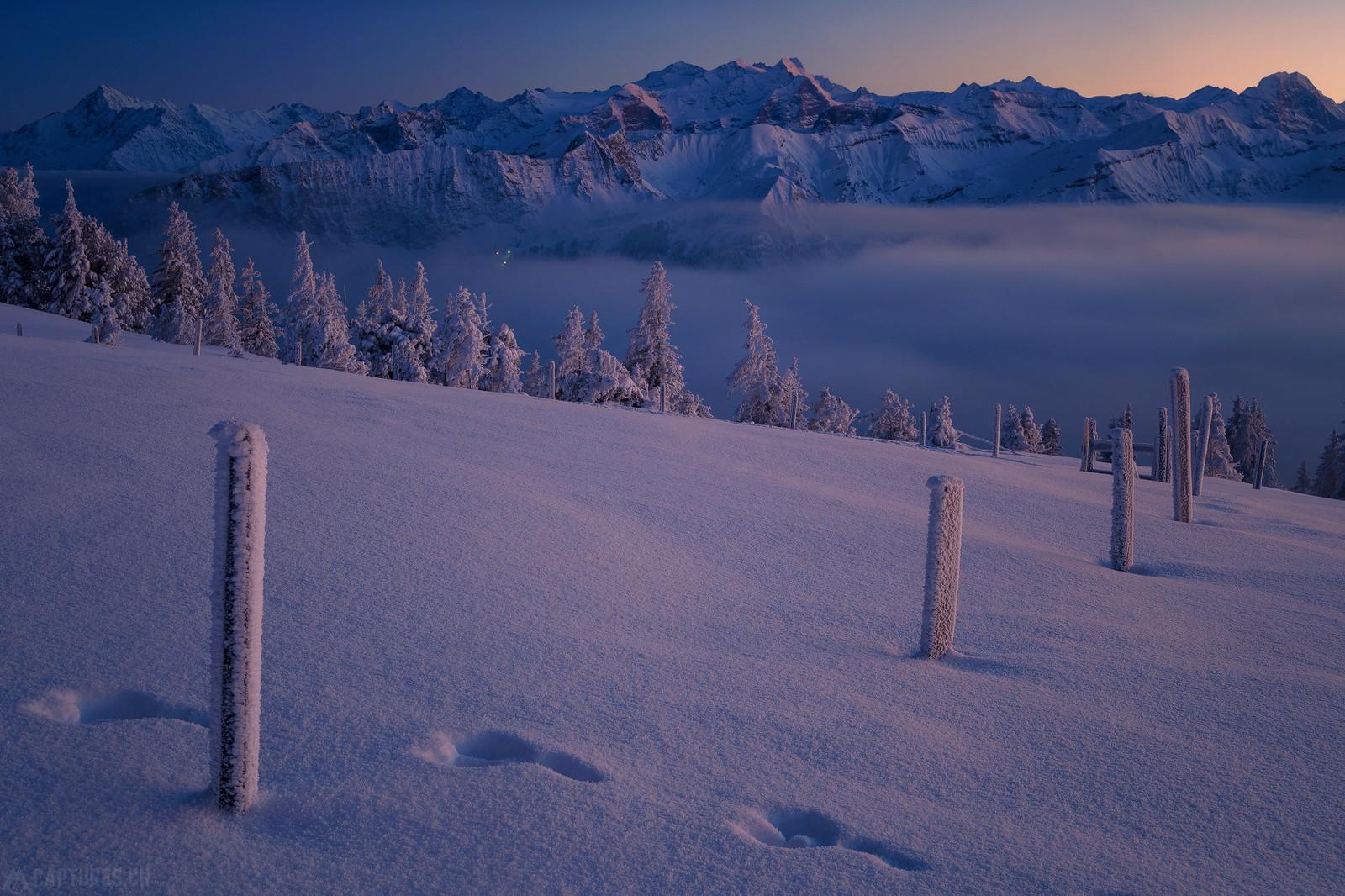 Mountains and fog - Zentralschweiz