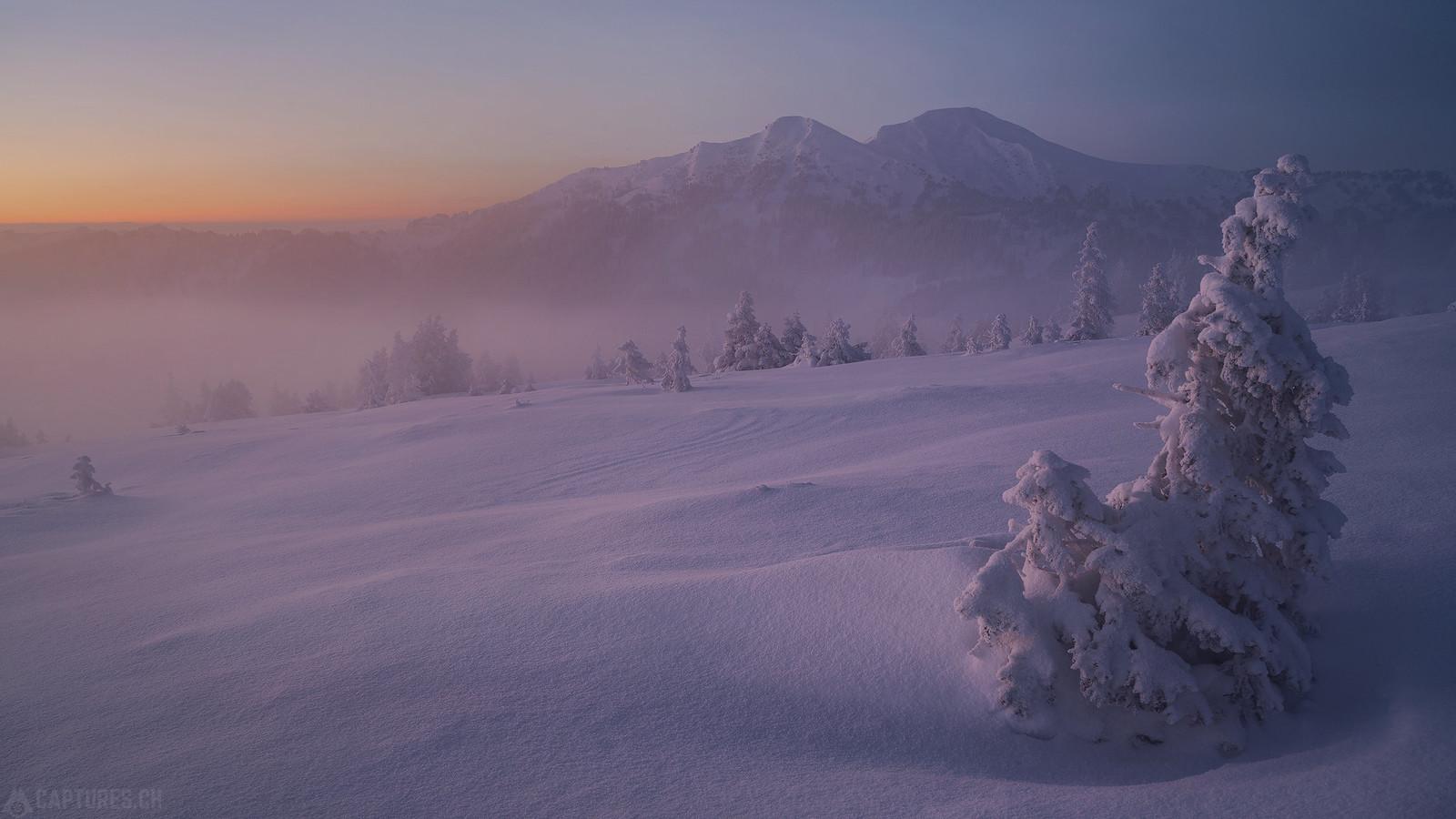 Colored winter landscape - Zentralschweiz