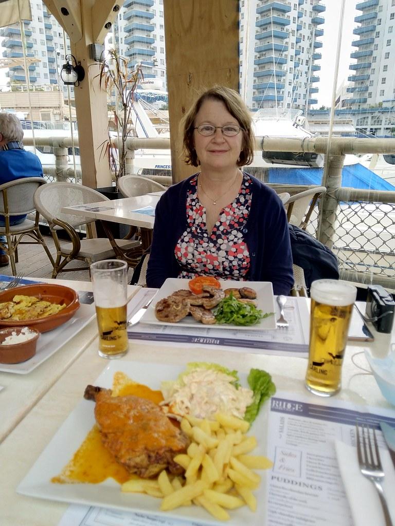 Lunch at The Bridge Bar & Grill, Ocean Village, Gibraltar