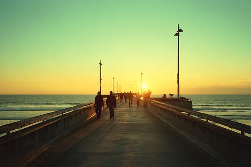 fishing pier sunset (xpro). venice beach, ca.  2012.