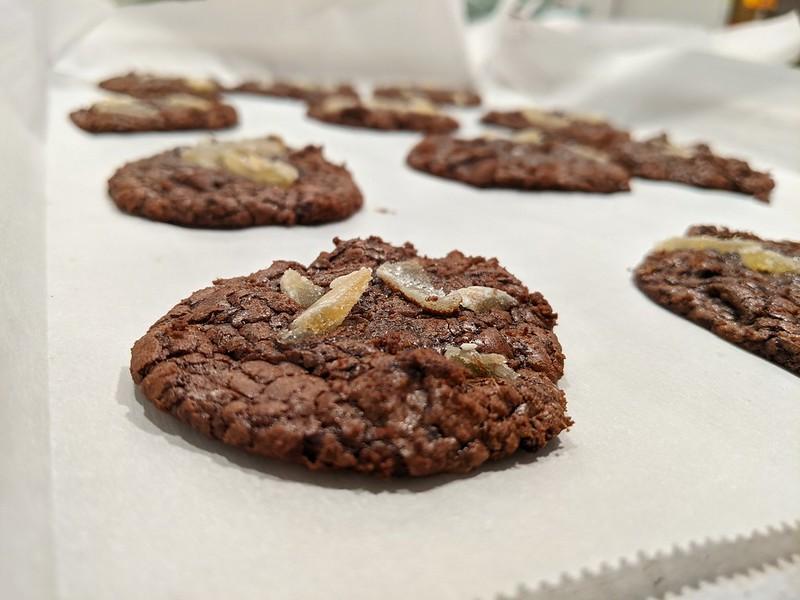 Gingery Brownie Crinkle Cookies