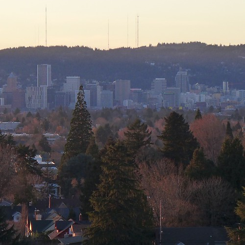 Downtown Portland from Mt. Tabor