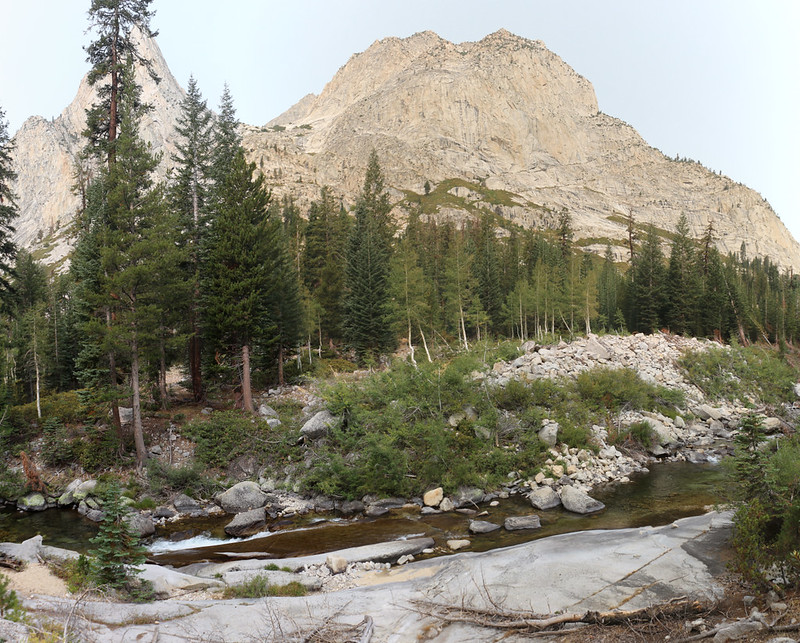 Looking west across the Middle Fork Kings River from the Pacific Crest Trail