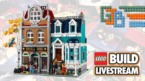LEGO LIVESTREAM BUILD - CREATOR EXPERT MODULAR BOOKSHOP (10270) | by GJBricks