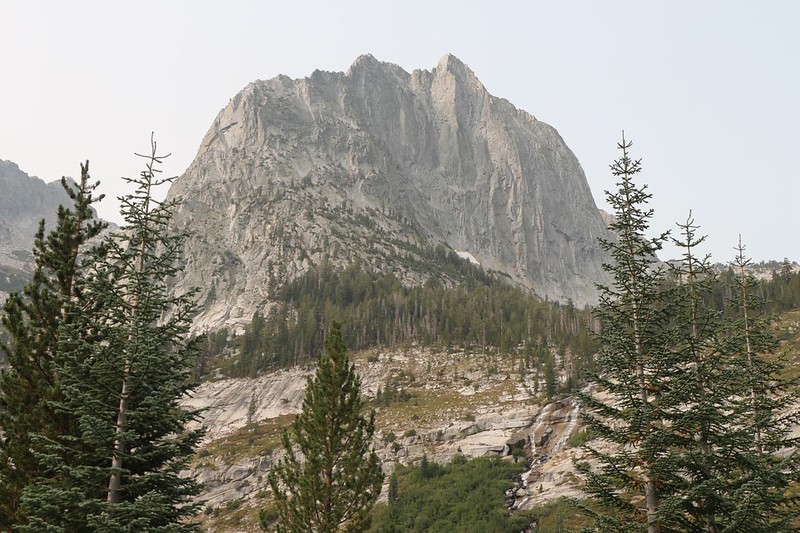 Zoomed-in view of The Citadel from the Pacific Crest Trail