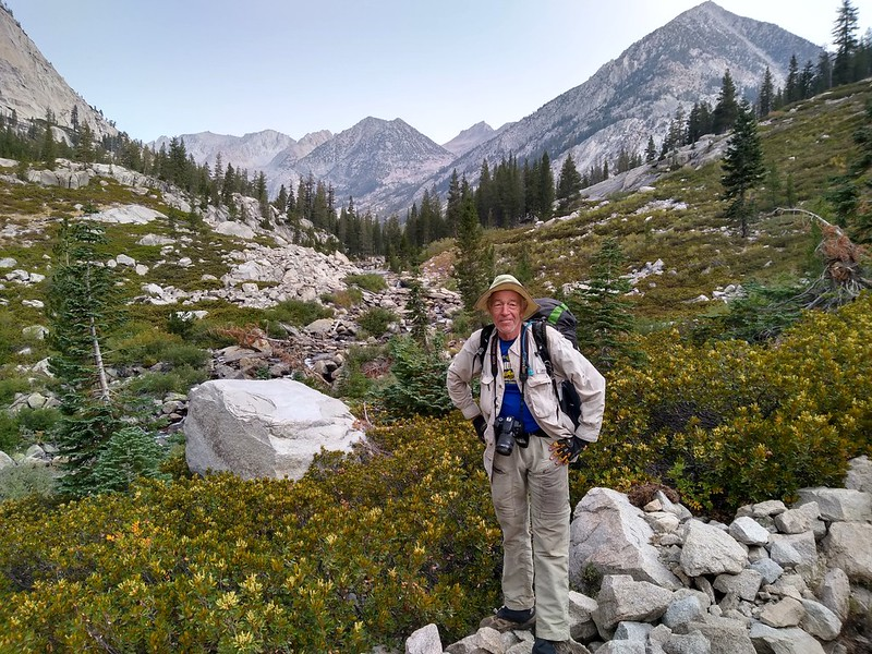 Me, posing in Le Conte Canyon with the Middle Fork Kings River down below, from the Pacific Crest Trail