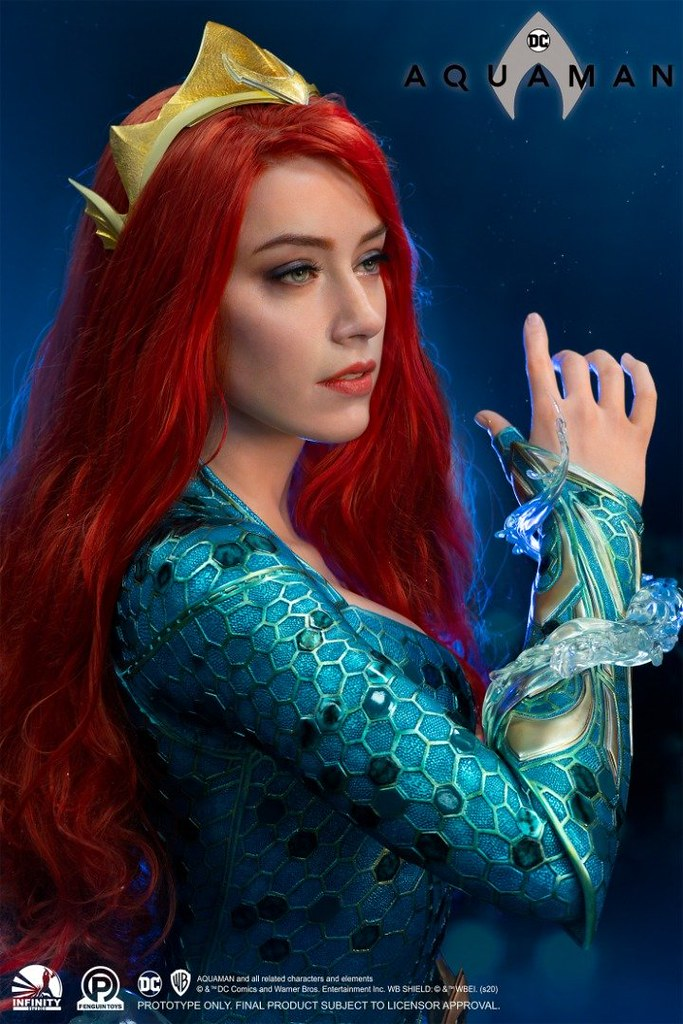 Infinity Studio《水行俠》梅拉 1:1 比例半身胸像 逼真再現公主鮮艷的紅髮~