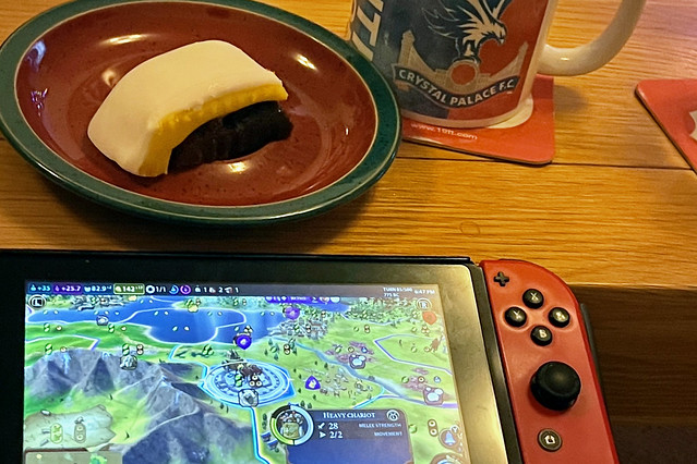Christmas cake, tea & my Switch