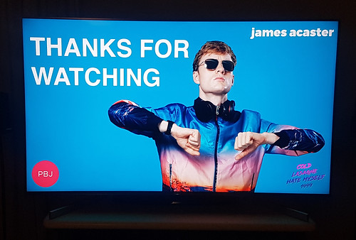 James Acaster live stream end title