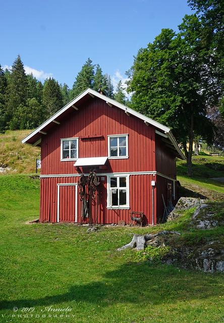 Red norwegian house