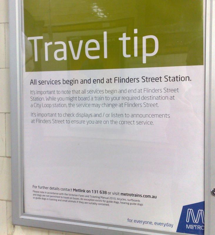 Metro travel tip poster (December 2010)