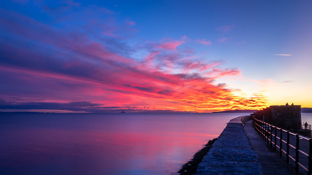 Saltcoats Harbour Sunset