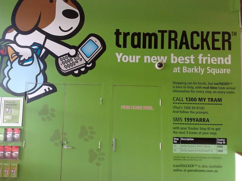TramTracker display in Brunswick (December 2010)