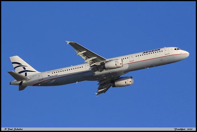 AIRBUS A321 231 AEGEAN SX-DVP 3527 Frankfurt aout 2020
