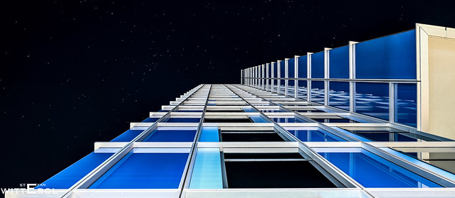 Blue reflected under the stars