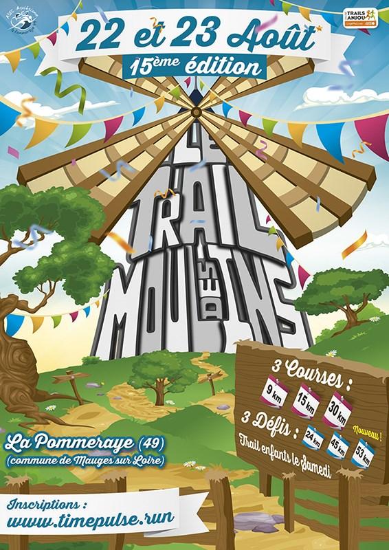 30 em compétition, Dimanche 23 aout 2020, Trail des moulins, La Pommeraye , 9 km, 85em