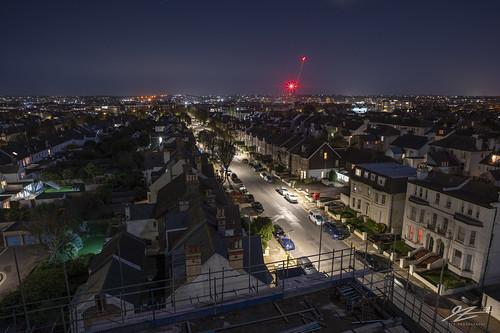 hdr highdynamicrange rooftops crane street light night evening lowlight rampion panorama beachhuts beach brighton hove eastsussex southeast england sonya7riii zeiss loxia 21mm
