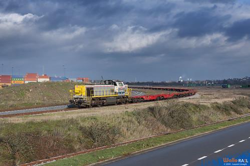 7737 db cargo belgium z63401 ligne 214 hermalle sous argenteau 29 decembre 2020 laurent joseph www wallorail be