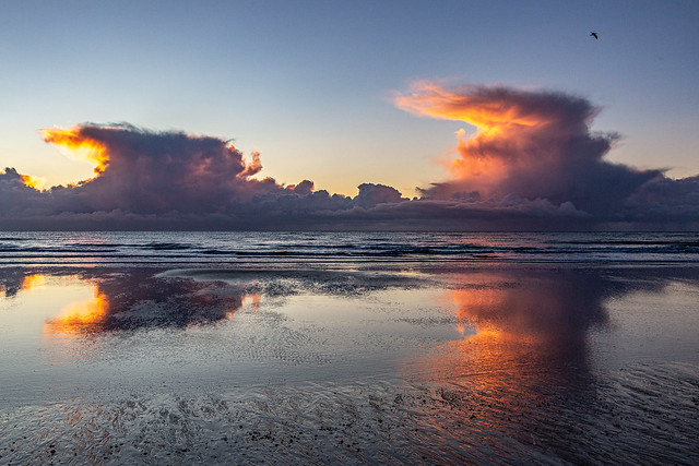 Curious cloud formations, Tywyn