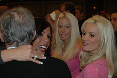 Girls Next Door appear  jealous of Carmella DeCesare's embrace of Hugh Hefner