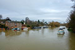 Thames flooding at Wallingford, December 2020
