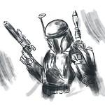 Boba Fett Speed Sketch