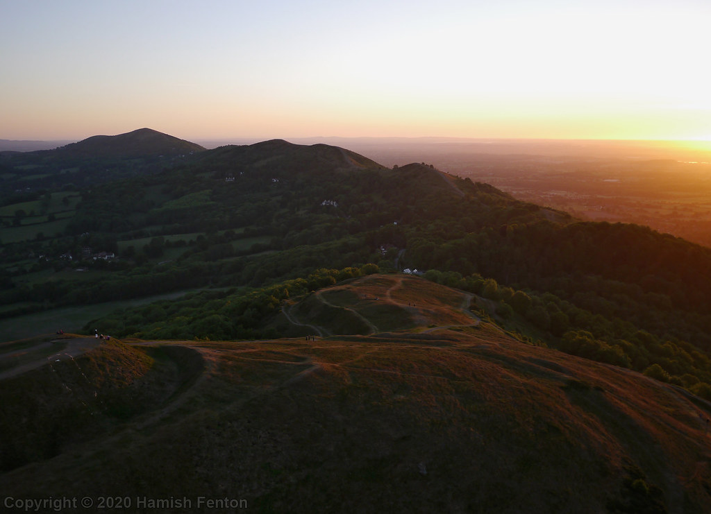 Herefordshire Beacon and the Malvern Hills at Sunrise