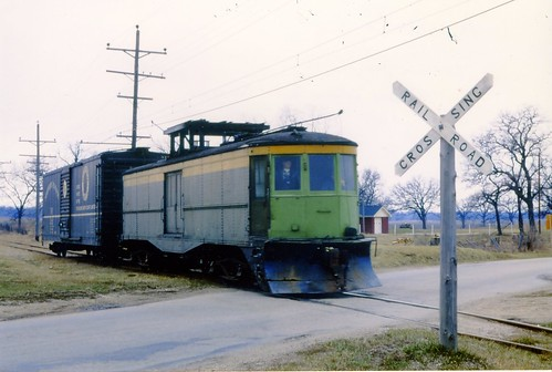 M15 pulls a short freight somewhere on the Municipality of East Troy's interurban