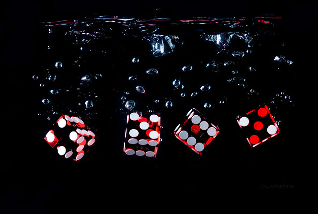 Dice Playing in the Water