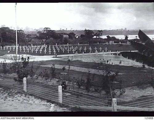 Overzichtsfoto Australische begraafplaats Morotai.
