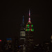 Empire State Building in Christmas lights for the holiday season 2020.