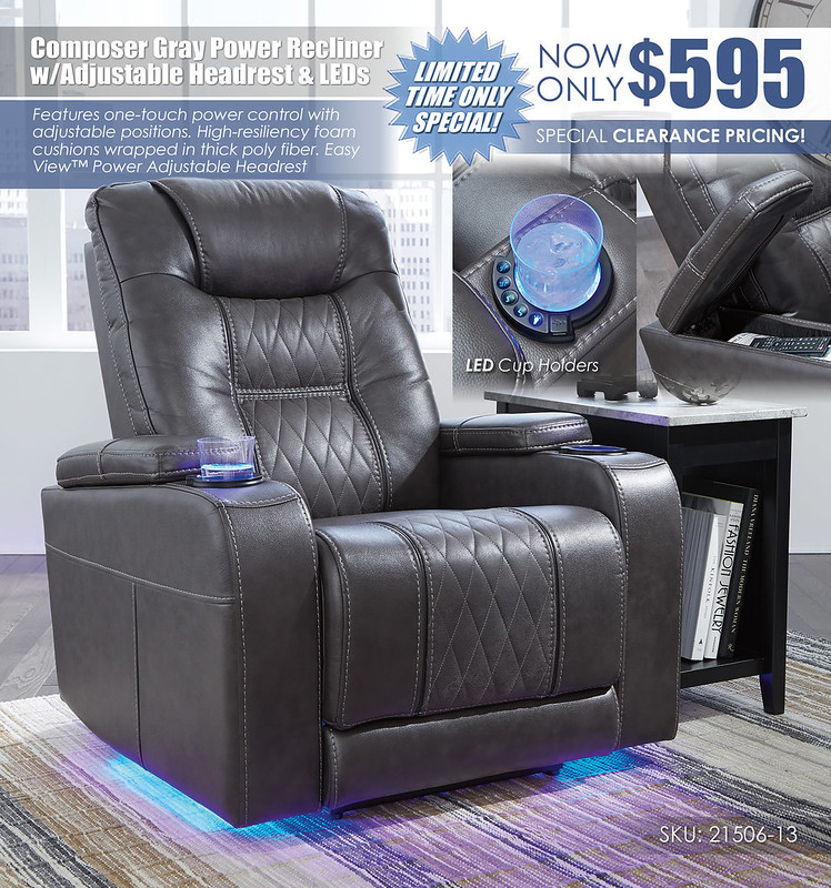 Composer Gray LED Recliner Special_21506-13-T217-811_Updated