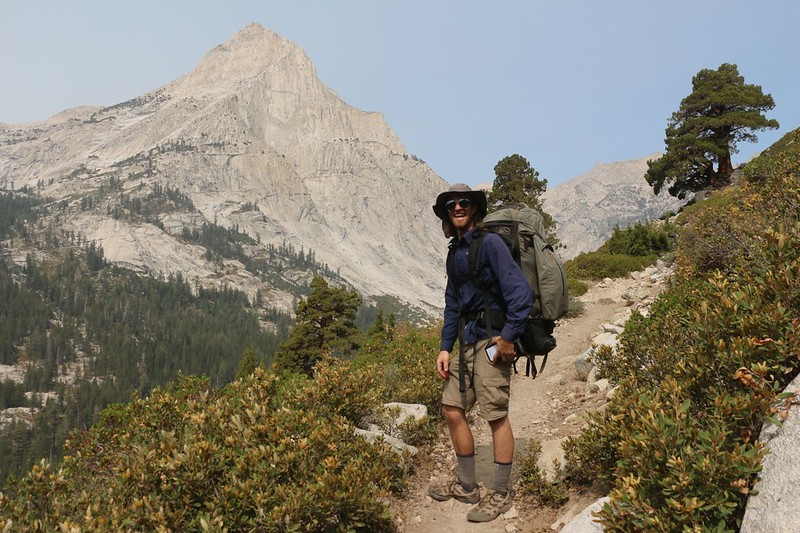 The views get better as we climb up the Bishop Pass Trail toward Dusy Basin, with Langille Peak on the left