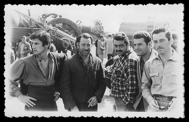 Carlos Larrañaga en el rodaje de Orgullo y Pasión en el Tajo muy cerca de Toledo. Foto de Ken Danvers.