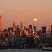 Chasing the moon over NYC