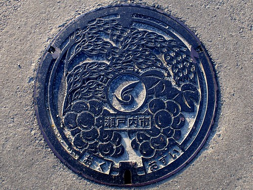 Oku Okayama, manhole cover (岡山県邑久町のマンホール)