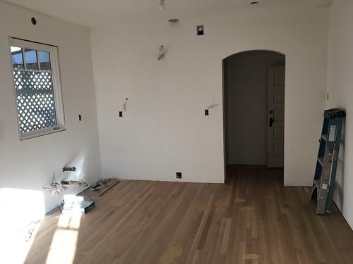 Kitchen drywalled
